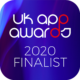 Uk App Awards finalist badge