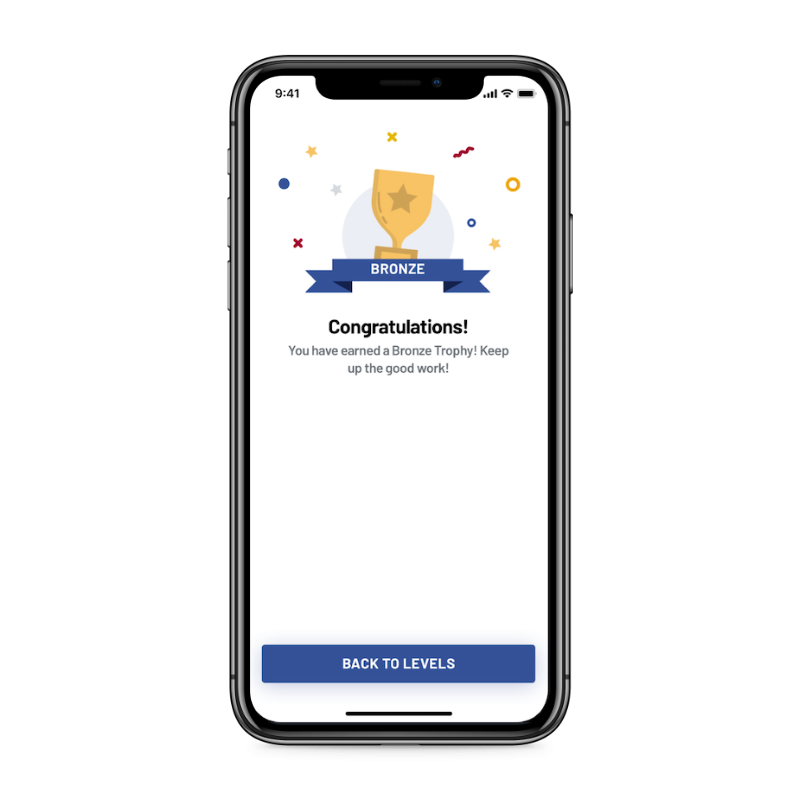 GolPhin app trophy screen