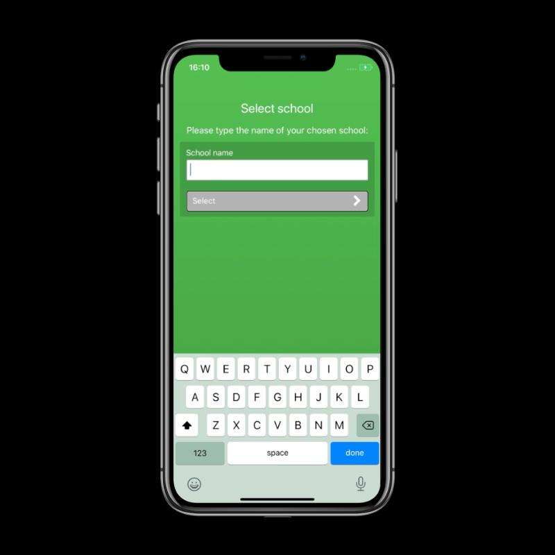 Screen shot of ConnectUs Parent App in iPhone