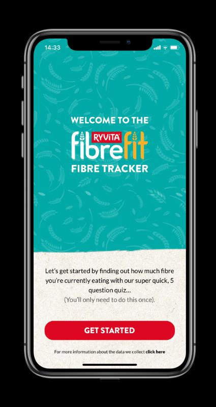 Ryvita fibrefit app screen